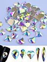 Glitter Nagelsmycken Paljetter Lyx / Moderiktig design / Mousserande nagel konst manikyr Pedikyr Party / Fest / afton / Dagligen Elegant & Lyxig / Glitter och glans / Nail Smycken