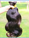 Obehandlad hår Kroppsvågor Brasilianskt hår 400 g Längre än ett år Dagligen
