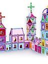 Magnetiskt block Magnetiska pinnar Magnetiska plattor Byggklossar 458 pcs Arkitektur omvandlings Pojkar Flickor Leksaker Present