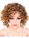 Syntetiska peruker Lockigt Kinky Curly Sexigt Lockigt Lockigt Med lugg Peruk Blond Blond Syntetiskt hår Afro-amerikansk peruk Blond Brun