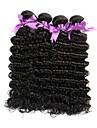 4 paket Brasilianskt hår Stora vågor Obehandlad hår Human Hår vävar Hårförlängning av äkta hår Människohår förlängningar / 10A