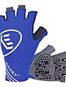 Nuckily Cykelhandskar Cykelhandskar för mountainbike Bergscykling Vägcykling Solskyddskräm Andningsfunktion Stötsäker Solskydd Fingerlösa Halvt finger Aktivitet/Sport Handskar Lycra Svart Bl