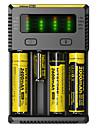 Nitecore NEW-I4 Batteriladdare för Li-jon NI-CD Ni-MH Bärbar Professionell Kortslutningsskydd Överladdningsskydd Plast England EU USA Camping / Fiske / Cykling / Cykel