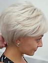 Mänskligt hår Peruk Kroppsvågor Frisyr i lager Korta frisyrer 2019 Kroppsvågor Sidodel Maskingjord Dam Svart Vit Medium Rödbrun / Blekt Blont 8 tum