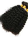 3 paket Brasilianskt hår Kinky Curly Äkta hår Human Hår vävar 8-28 tum Hårförlängning av äkta hår Människohår förlängningar / 8A / Sexigt Lockigt