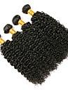 4 paket Brasilianskt hår Kinky Curly Äkta hår Human Hår vävar 8-28 tum Hårförlängning av äkta hår Heta Försäljning Människohår förlängningar / 8A / Sexigt Lockigt