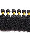 6 paket Brasilianskt hår Lockigt Obehandlad hår Human Hår vävar 8-26 tum Natur Svart Hårförlängning av äkta hår Människohår förlängningar / 10A