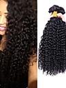 4 paket Brasilianskt hår Kinky Curly Äkta hår Human Hår vävar 8-28 tum Hårförlängning av äkta hår Människohår förlängningar / 8A / Sexigt Lockigt