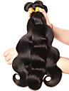 3 paket Brasilianskt hår Kroppsvågor Obehandlad hår Human Hår vävar 8-28 tum Hårförlängning av äkta hår Människohår förlängningar / 10A