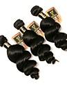 3 paket Brasilianskt hår Löst vågigt Äkta hår Human Hår vävar Hårförlängning av äkta hår Människohår förlängningar / 8A