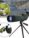 20-60 X 60 mm Monokulär Porro Zoombar Nattvision i lågt ljus Högupplöst Full multibeläggning BAK4 Camping Jakt Fiske Gummi-silikon Vattentätt tyg / Fågelskådning
