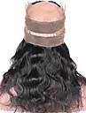 ELVA HAIR Brasilianskt hår 360 Fasad Kroppsvågor / Klassisk Fria delen / Mittparti / 3 Del Schweizisk spetsperuk Äkta hår Dagligen