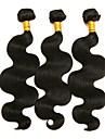 3 paket Brasilianskt hår Kroppsvågor Obehandlad hår Human Hår vävar 8-28 tum Hårförlängning av äkta hår 8a Människohår förlängningar / 10A