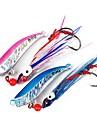 1 pcs Fiskbete Metallbete Lätt att använda Sjunker Bass Forell Gädda Sjöfiske Kastfiske Drag-fiske Plast / Generellt fiske / Trolling & Båt Fiske