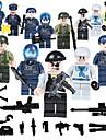 Byggklossar Militära block Byggsats Leksaker 19 pcs Människor Soldier kompatibel Legoing Skola Stress och ångest Relief Föräldra-Barninteraktion Klassisk Människor Bild Unisex Pojkar Flickor Leksaker