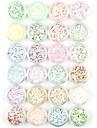 1st / 1set Konstgjorda nageltips Glitter Paljetter Till 24 färger nagel konst manikyr Pedikyr Glittriga