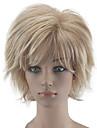 Syntetiska peruker Lockigt Lockigt Frisyr i lager Peruk Blond Korta Beigt Blond Syntetiskt hår Dam Naturlig hårlinje Blond hairjoy
