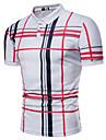 Homens Camisa de golfe Camisa de tenis Listrado Xadrez Tamanhos Grandes Estampado Manga Curta Diario Blusas Basico Cinzento Branco Azul Marinha / Verao
