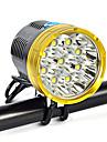 Pannlampor Strålkastarnas Remmar säkerhetslampor 18000 lm LED LED 9 utsläpps 9 Belysning läge Camping / Vandring / Grottkrypning Vardagsanvändning Cykling Guld Röd