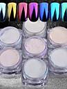7 7pcs Glitterpulver Mirror Effect / Nail Glitter Nail Art Design