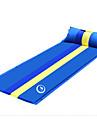 Shamocamel® Självbländande sovplatta Gör det dubbelt Utomhus Camping Fuktighetsskyddad Uppblåst 187*68*3 cm Camping Utomhus för 1 person Vår Sommar Höst Mörkblå Jordgul Grön
