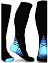 Stödstrumpor Sportstrumpor Cykelstrumpor Herr Dam Cykling / Cykel Cykel / Cykelsport Andningsfunktion Svettavvisande Bekväm 2 par Färgblock Nylon Grå Blå Rosa S / M L / XL / Hög Elasisitet