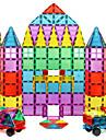 Magnetiskt block Magnetiska plattor Byggklossar 60-128 pcs geometriska mönster transparent kropp Pojkar Flickor Leksaker Present
