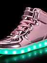 Pojkar / Flickor Komfort / Lysande skor PU Sneakers Småbarn (9m-4ys) / Lilla barn (4-7år) / Stora barn (7 år +) Snörning / Krok och ögla / LED Svart / Guld / Silver Höst