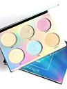 6 färger Highlighters och bronzers Överstrykningspennor Skimmrig Kina Smink Kosmetisk