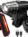 LED Bike Light Rechargeable Bike Light Set Front Bike Light Rear Bike Tail Light LED Mountain Bike MTB Bicycle Cycling Waterproof Multiple Modes Super Brightest Portable USB 800 lm Rechargeable USB