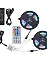 ZDM 2*5M 2835 RGB 600 LEDs 8mm 36W Strip Flexible Light LED with 44Key IR Remote Controller Kit and 12V 3A Power Supply AC110-240V