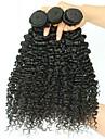 3 paket Brasilianskt hår Kinky Curly Äkta hår Hårförlängningar av äkta hår 8-28 tum Naurlig färg Hårförlängning av äkta hår Förlängning Heta Försäljning Människohår förlängningar / 8A