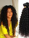 4 paket Peruanskt hår Kinky Curly Obehandlad hår Human Hår vävar Förlängare En Pack Lösning 8-28 tum Naurlig färg Hårförlängning av äkta hår Söt Mjuk Heta Försäljning Människohår förlängningar / 10A