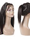 Guanyuwigs Brasilianskt hår 360 Fasad Rak Schweizisk spetsperuk Remy-hår Dam Mjuk / Silkig Party / Vardag / Dagliga kläder / Svart