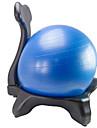 Balansbollsstol Fot pump Träningsboll / Yogaboll 55cm Diameter pvc PE Hjul Stabilitet Ergonomiska Sjukgymnastik Balansutbildning Yoga Pilates Motion & Fitness För Hem Kontor