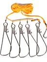 Fiske Snaps & Lekare 1 pcs Fiske flätat rep Slitsäker PE Rostfritt stål Sjöfiske Flugfiske Kastfiske / Isfiske / Spinnfiske / Jiggfiske / Färskvatten Fiske / Karpfiske