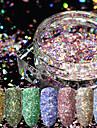 12st Konstgjorda nageltips Glitter Till Moderiktig design / 12 färger nagel konst manikyr Pedikyr Retro Bröllopsfest / Dagliga kläder