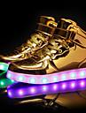 Pojkar / Flickor Lysande skor PU Sneakers Lilla barn (4-7år) / Stora barn (7 år +) LED Vit / Svart / Silver Vår / TR (termoplast)