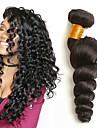 4 paket Brasilianskt hår Vågigt Äkta hår Hårförlängningar av äkta hår 8-28 tum Naurlig färg Hårförlängning av äkta hår Förlängning Heta Försäljning Människohår förlängningar / 8A