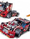 Byggklossar Militära block Byggsats Leksaker 608 pcs Fordon Soldier kompatibel Legoing Utsökt Truck Racerbil Pojkar Flickor Leksaker Present / Utbildningsleksak