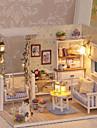 3D Wooden Miniaturas Dollhouse Dockhus Vackert GDS (Gör det själv) Utsökt Romantik Möbel Trä Barn Vuxna Flickor Leksaker Present