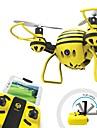 RC Drönare HASAKEE H1 4 Kanaler 6 Axel 2.4G Med HD-kamera 0.3MP 480P Radiostyrd quadcopter FPV / Huvudlös-läge / 360-Graders Flygning