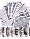 48 pcs Nail Sticker Blomma Överföringspapper