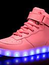Flickor Lysande skor PU Sneakers LED Röd / Blå / Rosa Vår / Gummi