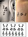 10 pcs Tatueringsklistermärken tillfälliga tatueringar Tecknad serie Body art arm