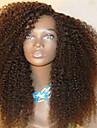 Remy-hår Spetsfront Peruk Frisyr i lager Rihanna stil Brasilianskt hår Lockigt Svart Peruk 130% Hårtäthet med babyhår Afro-amerikansk peruk Till färgade kvinnor Dam Korta Mellan Äkta peruker med hätta
