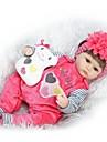NPKCOLLECTION NPK DOLL Reborn-dockor Flicka Doll Babyflickor 16 tum Silikon - Nyfödd levande Söt Miljövänlig Barnsäkert Ogiftig Unge Unisex / Flickor Leksaker Present