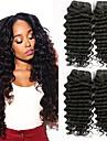4 paket Brasilianskt hår Vågigt Äkta hår Hårförlängningar av äkta hår Naurlig färg Hårförlängning av äkta hår Förlängning Heta Försäljning Människohår förlängningar / 8A