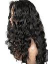 Obehandlad hår Spetsfront Peruk Frisyr i lager stil Brasilianskt hår Löst vågigt Svart Peruk 130% Hårtäthet med babyhår Naturlig hårlinje Till färgade kvinnor Dam Lång Äkta peruker med hätta Aili