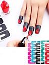 1 pcs 3D Nagelstickers Kreativ nagel konst manikyr Pedikyr Multifunktion / Bästa kvalitet Mode Dagligen